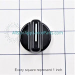 GE Washer/Dryer Rotary Knob We1x1149, Size: Standard