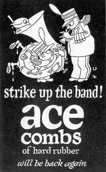 ACE HARD RUBBER COMBS SATURDAY EVENING POST 10/06/1945 p. 117