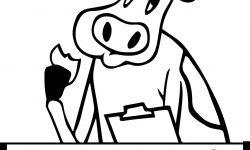 Patates Yiyen Inek Boyama Sayfası