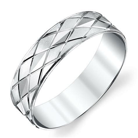 925 Sterling Silver Mens Wedding Band Ring Size 8, 9, 10