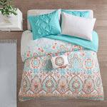 8pc Full Skylar Comforter and Sheet Set Aqua