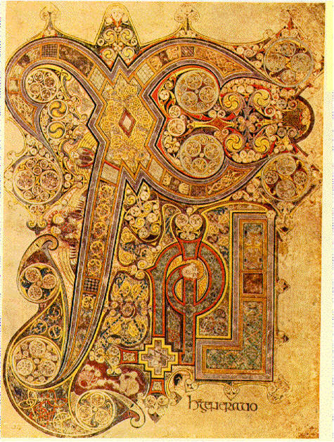 "fuckyeah-arthistory:  Chi Rho Iota Page from the Book of Kells - made in Iona, Scotland, late 8th or early 9th century.  When I think of ""art,"" this is what comes to my mind."