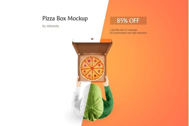 Download Free Pizza Box Mockup (PSD Mockups) - Download Free Pizza ...