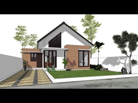 populer desain rumah di lahan 10 x 25 m, video de sain