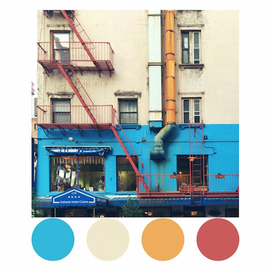 Art Director Creates Gorgeous Color Palettes Inspired By The Streets Of NYC - DesignTAXI.com