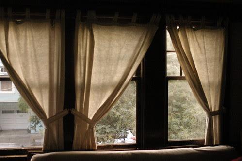 curtains at Tea's house