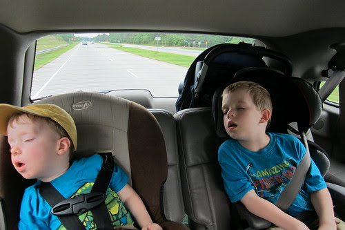 sleepy bday boy & brother