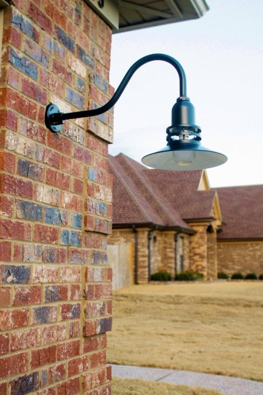 Uplighting Offers Soft Light to Brick Facade | Blog | BarnLightElectric.com