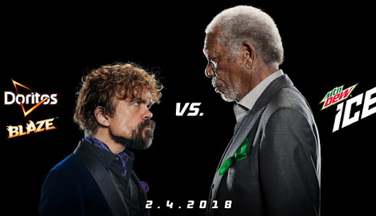 Peter Dinklage and Morgan Freeman Lip-Sync in Doritos and Mountain Dew Super Bowl Ad