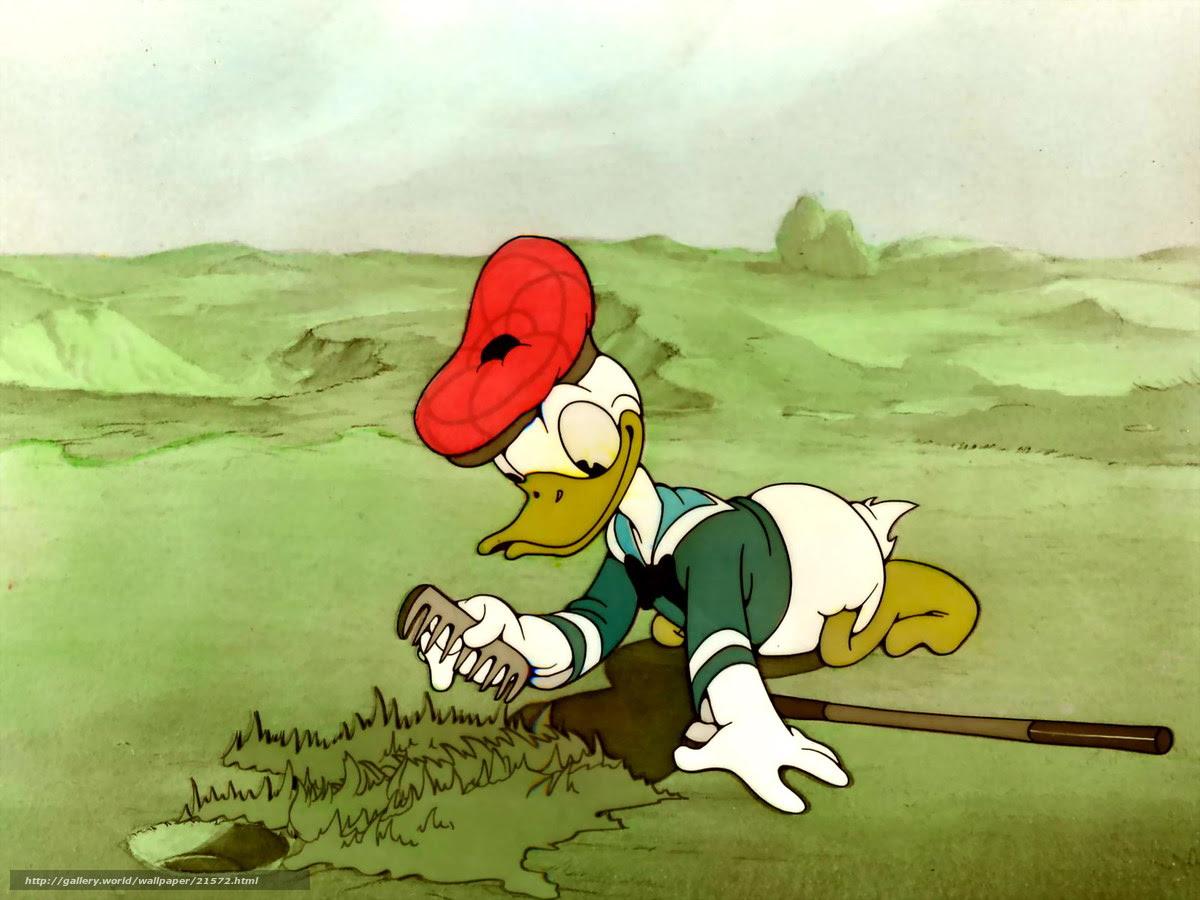 壁紙をダウンロード ドナルドはゴルフをしている ドナルドのゴルフ