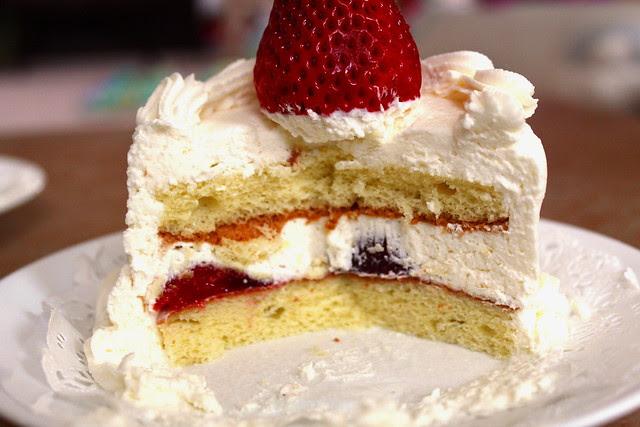 Mini Strawberry Cake innards