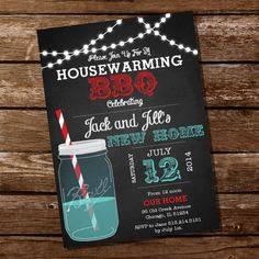 Housewarming party invitations template, housewarming bbq party, i ...