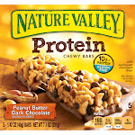 Nature Valley Protein Chewy Bars, Peanut Butter Dark Chocolate - 5 pack, 1.42 oz bars