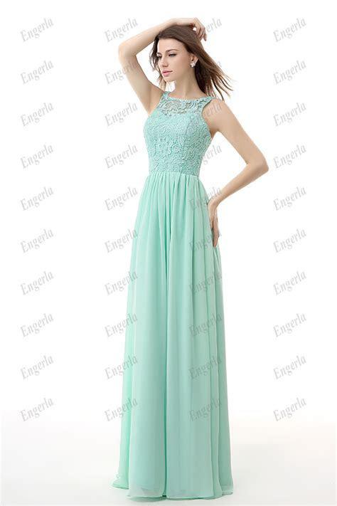 Mint Green Chiffon Cheap Bridesmaid Dresses 2015 Jewel