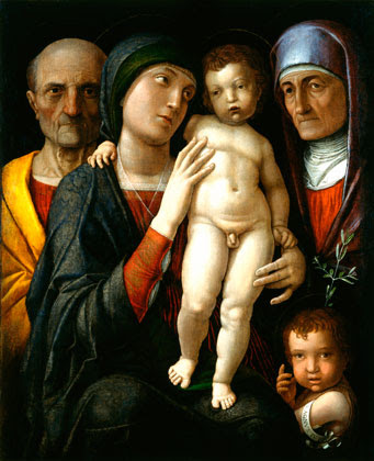 Andrea Mantegna Holy Family with Saints Elizabeth and John the Baptist