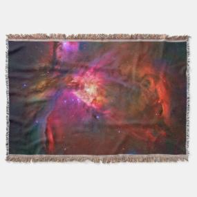 Purple Orion Nebula and Trapezium Stars Throw