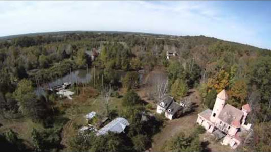Drone Discovers Abandoned Renaissance Faire Deep in Virginia Woods