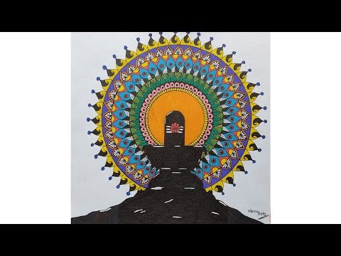 Shivaratri Special || How to draw Shivling Mandala Art || Easy Steps for Beginners ||Hema Rajbanshi - HEMA ARTS (Youtube Channel)