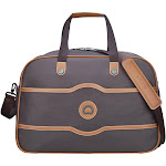 DELSEY Paris Vintage Chatelet Soft Lightweight Weekend Travel Duffel Bag, Mocha by VM Express