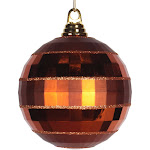 "Vickerman m151688 5.5"" Copper Shiny-Matte Mirror Ball"