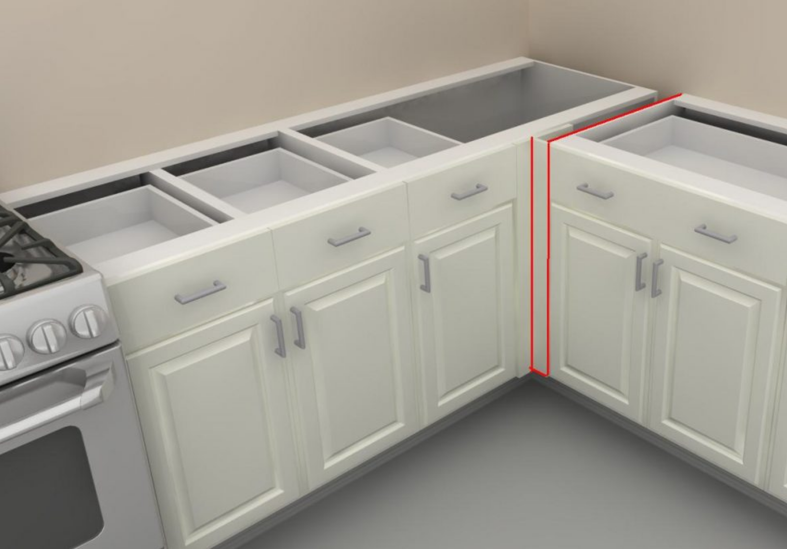 Kitchen: corner cabinets and storage. - Victoria Elizabeth ...