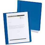 Oxford - Report file - Letter - for 100 sheets - dark blue with transparent front cover