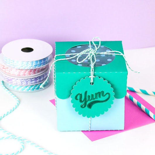 DIY Paper Treat Boxes with Cut Files for Silhouette or Cricut - Persia Lou