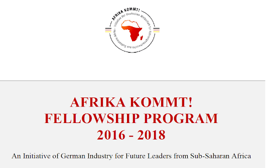 AFRIKA KOMMT! Fellowship Program 2016/2018 for Future Leaders from Sub-Saharan Africa (Fully Funded to Germany) | Opportunities For Africans