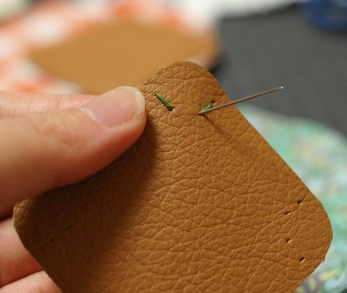 How to make a leather bottom pincushion 8