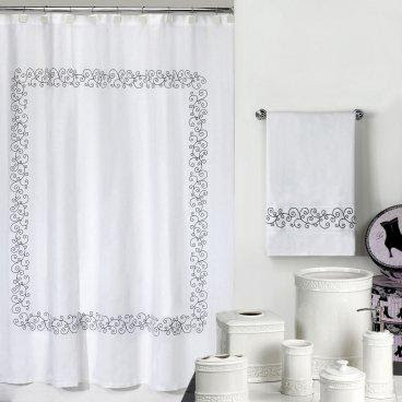 Cosmopolitan Shower Curtain - Shower Curtains at Shower Curtains ...