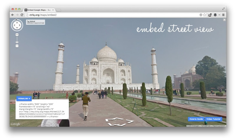 embed street view