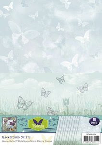 BGS10004 Achtergrondpapier Yvonne Creations Butterfly