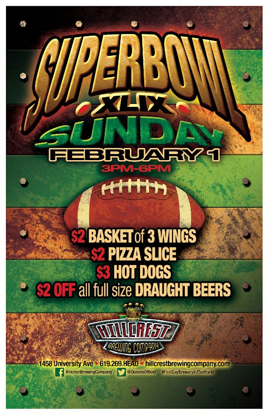 Superbowl in Hillcrest - Hillcrest Brewing Company