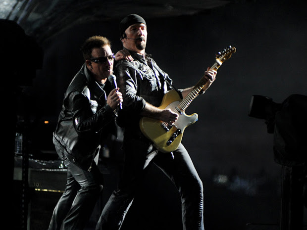 Bono e The Edge se apresentam no Morumbi (Foto: Flavio Moraes/G1)