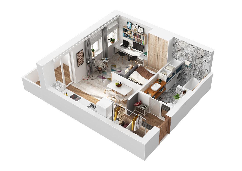 أفكار رائعة للحصول علي تصميم أنيق للشقة ذات المساحة الضيقة