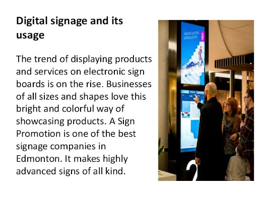 Digital Signage and its Usage