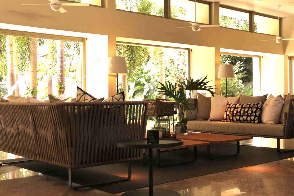 San Juan tropical living room