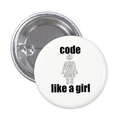 Code Like a Girl Button