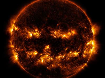La actividad solar, fotografiada el 8 de octubre. REUTERS/NASA