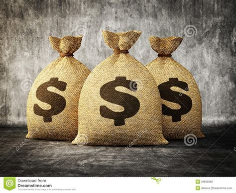 Money Bag Stock Photo   Image: 31659380
