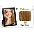 Pro Fusion 20 inch, #8 Light Brown
