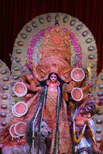 Goddess Durga At Bengal Club Shivaji Park .. She Manifests Herself as Poetry In My Pictures by firoze shakir photographerno1