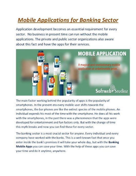 Mobile Applications for Banking Sector