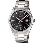 Casio Men's Core MTP1302D-1A2V Black Stainless-Steel Quartz Fashion Watch