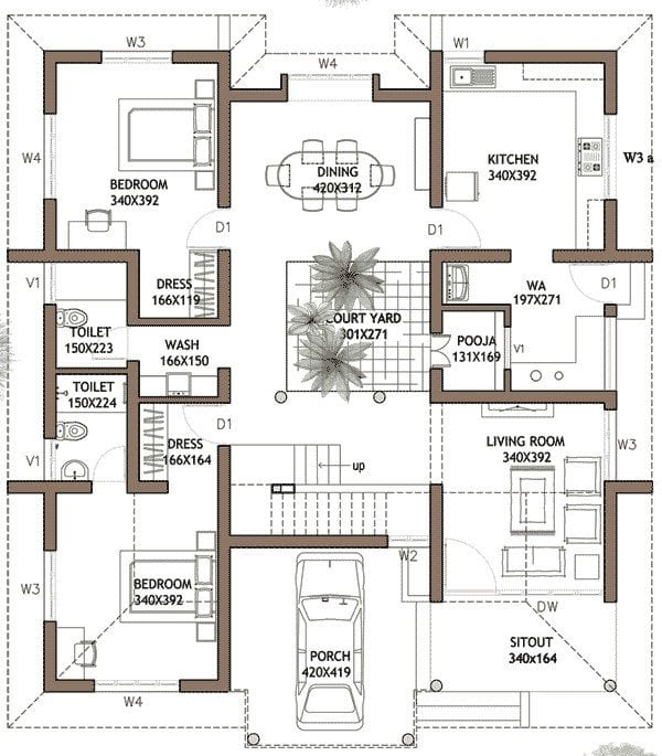 23 Cool Kerala House Plans 4 Bedroom Double Floor