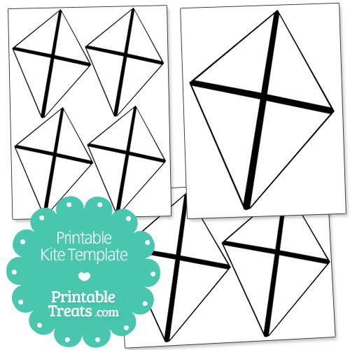 Printable Kite Template — Printable Treats.com
