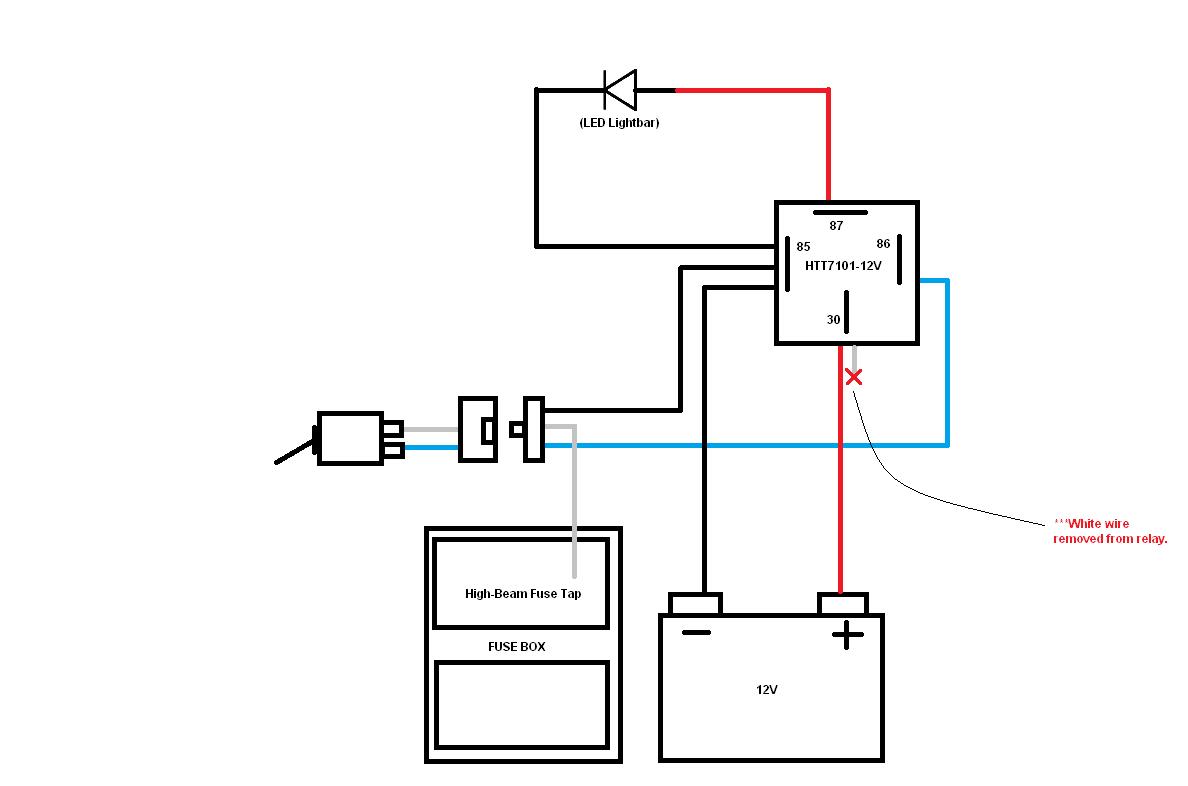 Light Bar Wiring Diagram High Beam
