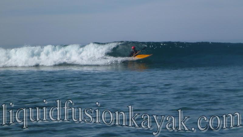 High performance kayak surfing on mendocino coast