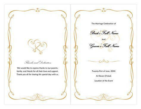 Wedding program (Heart Scroll design)   Microsoft Office