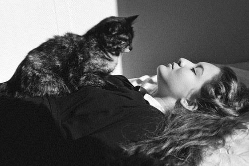 My sister Esmeralda..... & our cat ''Shakira'' :)) by Sabina Tabakovic